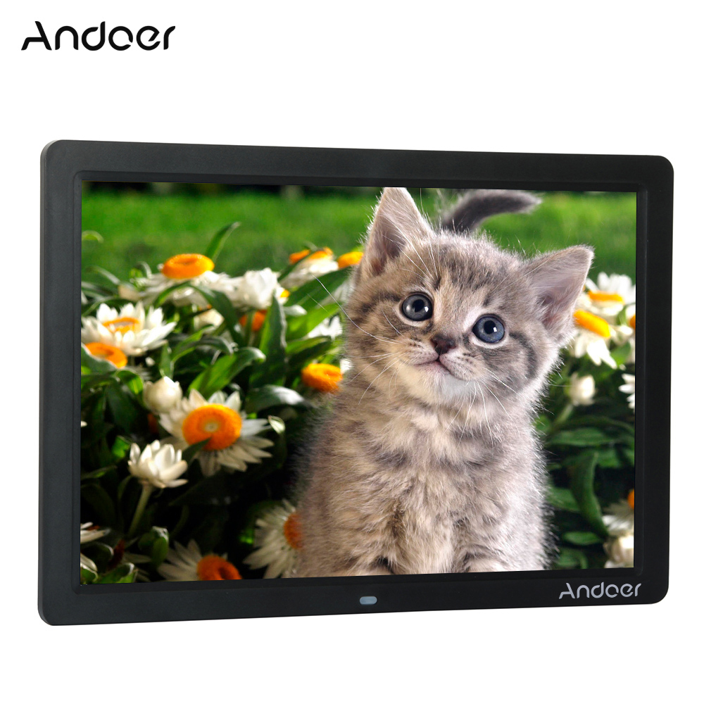 andoer 15 wide screen led digital photo frame 1280800 electronic picture photo frame