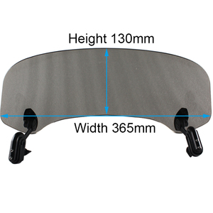 Image 5 - Universal Motorcycle Windshield Extension Spoiler Air Wind Deflector Moto Riser Windscreen For BMW Honda Scooter Accesssory