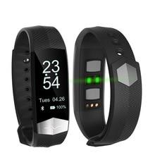 OLED Screen font b Smart b font Bracelet Fitness ECG PPG Pulseira Inteligente Blood Pressure Tonometers