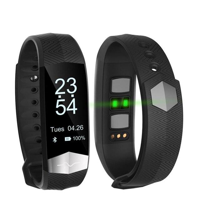 Schermo OLED Braccialetto Intelligente Fitness ECG PPG Pulseira Inteligente Pressione Sanguigna Tonometers Wristband Contapassi Attività Tracker