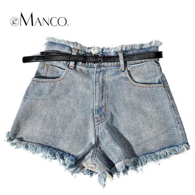 E-Manco Fashion & Casual Jeans Ultra Shorts para As Mulheres Estilo Do Vintage Rasgado Calções Roupa Parte Inferior das Mulheres