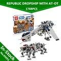 In Stock  Lepin 05053 1788Pcs New Genuine Star War Series The Republic Dropship Set Building Blocks Bricks Children Toys 10195