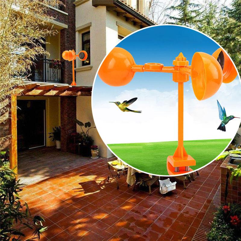 Птичий Отпугиватель птица скарер реалистичный езды птица устройство сад ветер мощность пони 360 ° креативный