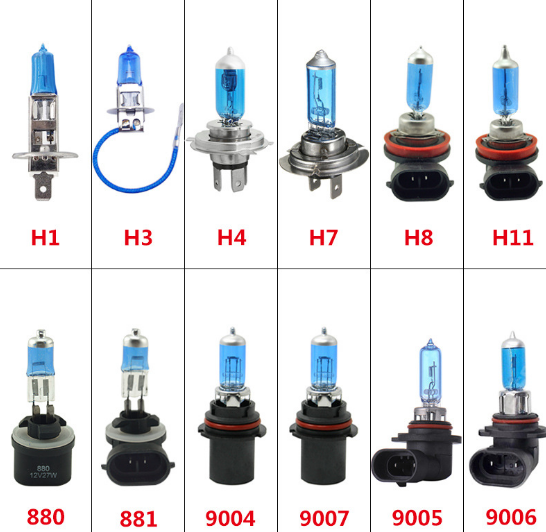 Car Headlight H1 H3 H4 H7 Xenon Lamp Super White Car Auto Head Light halogen Bulbs 55W 100W 12V 5000K Fog lights wholesale
