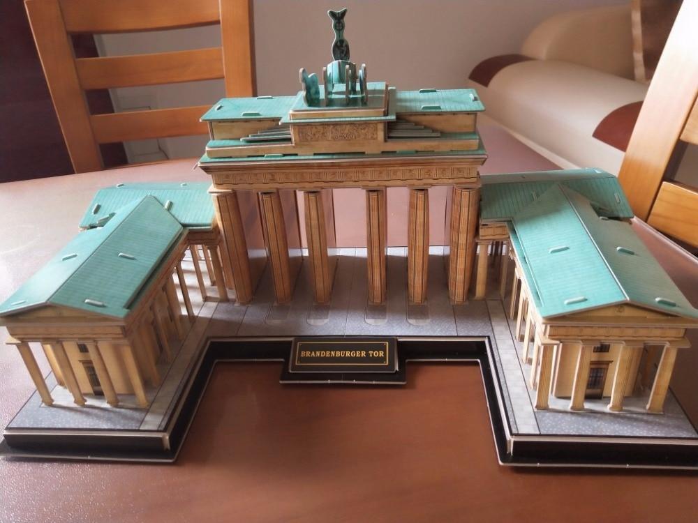 CubicFun 3D пазл Германия Бранденбургские ворота здания всемирно известный архитектура собраны модели развивающие игрушки для мальчиков подар...