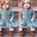 Monkids Bonito Vestido Da Menina Crianças Vestidos de Meninas Traje Crianças Roupas de Bebê Meninas Vestuário Vestido A-line 2-7Y Roupa Dos Miúdos