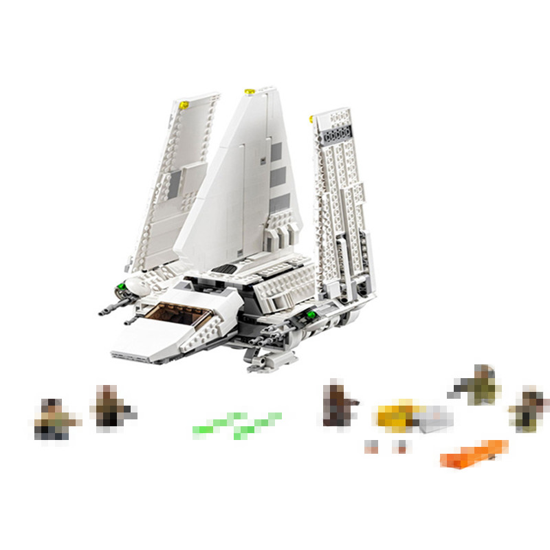 937Pcs New Star wars Series The Imperial Shuttle Set Model Building Kit Blocks Bricks Toy Compatible With Legoingly 75094 Gifts kazi 608pcs pirates armada flagship building blocks brinquedos caribbean warship sets the black pearl compatible with bricks