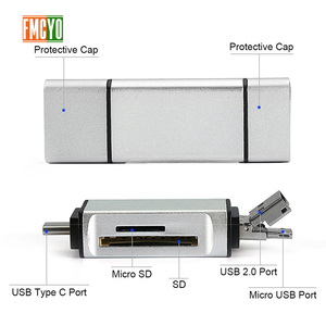 Image 3 - المصغّر USB إلى نوع C داعم محول مايكرو SD/SD/MMC بطاقة/USB قارئ البيانات نقل وتغ محول تحويل دعم ل دروبشيب