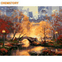 CHENISTORY Frame DIY Painting By Numbers Explode City Paint By Numbers Kit Landscape Coloring By Number For Home Decors Artworks(China)