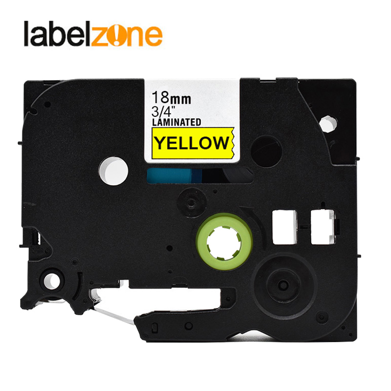 2 Black on White Strong Label Tape For Brother TZe-S241 TZ-S241 PT-P700 18mm 8m