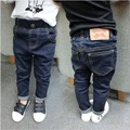 Crianças de moda Calças de Alta Qualidade de Varejo Primavera Outono Bebés Meninos Jeans Casual Crianças Denim Calças Para 1-5 T