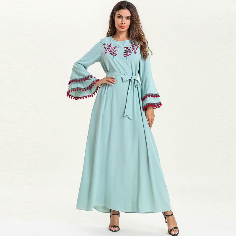 Caftan Abaya dubaï islamique musulman Hijab Robe Caftan Marocain Elbise Ramadan Sukienki robes Eid Vestidos Robe Arabe Musulmane