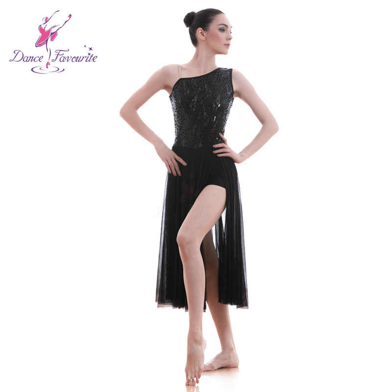 ac0eab5a7 ... Dance Favourite Black Sequin Lace Women Lyrical Dance Costume Ballet  Dance Costumes Stager & Performance Dance ...