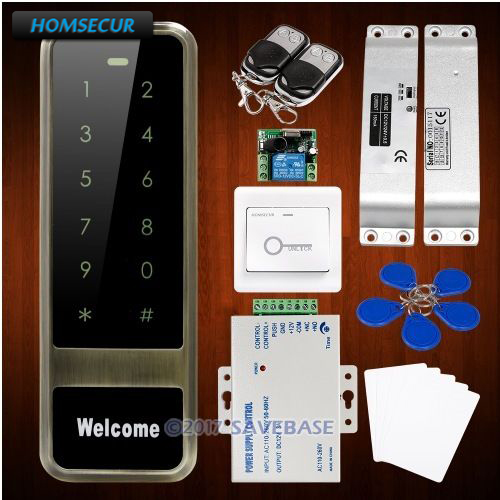 HOMSECUR Wiegand 26/34 Anti-Vandal 13.56Mhz IC Access Control System+Drop Bolt Lock wiegand 26 input