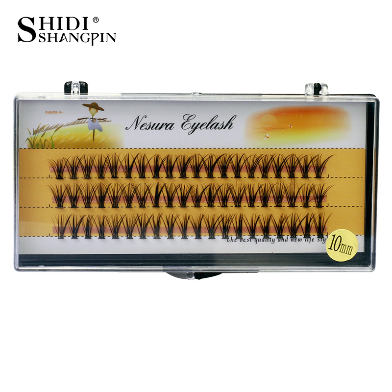 SHIDISHANGPIN 60pcs Individual Lashes 0.07 C Curl False Eyelashes Eyelash Extension 8 10 12mm Individual Eyelashes Maquiagem