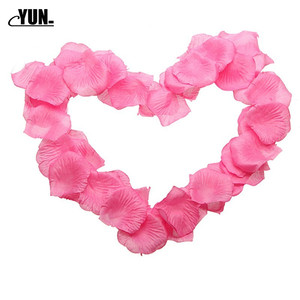 Image 4 - A. 1000Pcs Wholesale Wedding Rose Petals Decorations Flowers Polyester Wedding Rose New Fashion 6D