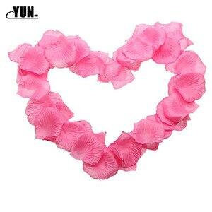 Image 4 - A. 1000Pcs matrimonio allingrosso petali di rosa decorazioni fiori poliestere matrimonio rosa nuova moda 6D