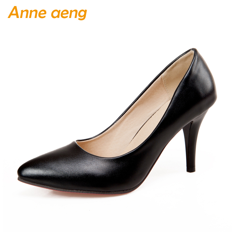 women pumps 7cm high thin heels pointed toe classic elegant office lady pumps high heels black white women shoes big size 34-46 big size 40 41 42 women pumps 11 cm thin heels fashion beautiful pointy toe spell color sexy shoes discount sale free shipping