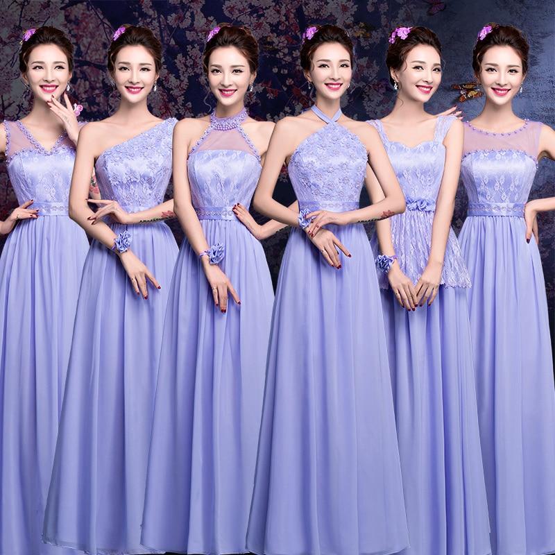 Magnífico Vestidos De Dama De Honor Azul Oscuro Baratos Friso ...