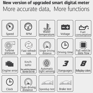 Image 3 - WiiYIi P15 هود obd2 رئيس يصل عرض أدوات التشخيص سيارة OBD2 الذكية أداة مسح ضوئي رحلة الكمبيوتر سيارة هود OBD2 السيارات رئيس يصل العرض