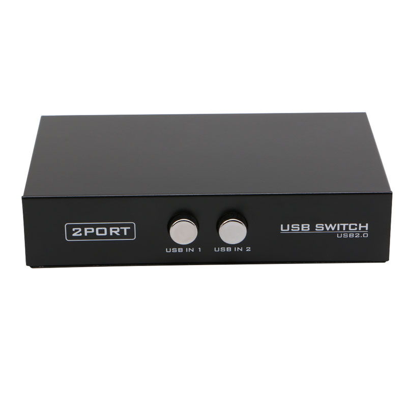 High Speed 2 Ports USB2.0 Sharing Device Switch Switcher Adapter Box For PC Scanner Printer