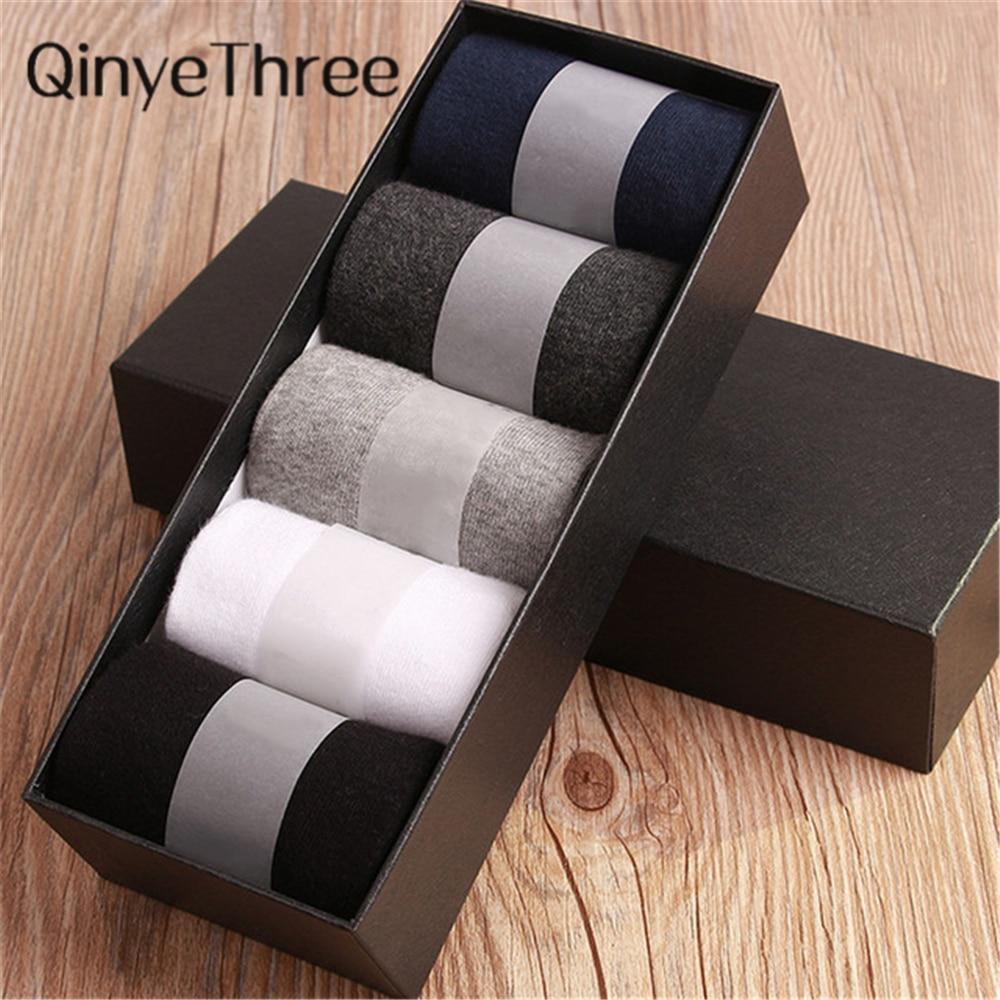 Business Men socks harajuku calcetines hombre plain classic sock men breathable solid cotton socks 10pcs=5pair per lot No Box