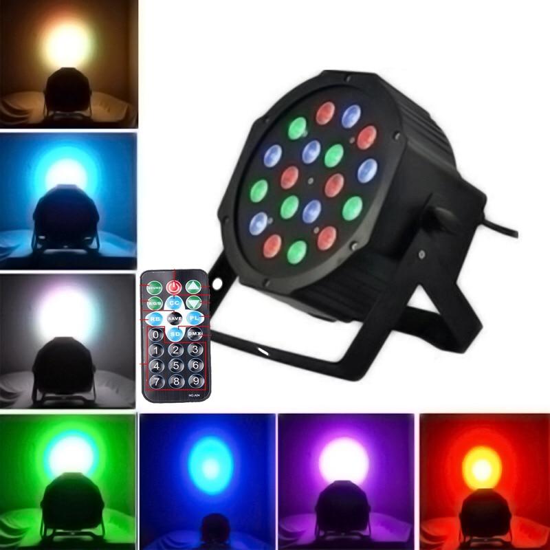 4X Lot Stage Light 18*3W RGB LED Par Can DMX LED Par Projector For Event Party DJ Bar Par Light Disco Light With Remote Control ювелирные цепочки бронницкий ювелир цепочка