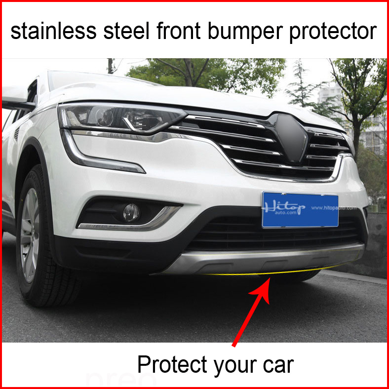 Newest front bumper protector/guard front skid plate for Renault Koleos,thicken 304 stainless steel.OE model,protect your car car front vent bumper guard white silver