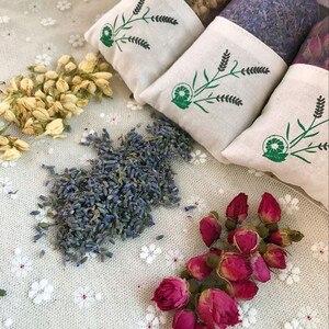 Image 4 - ナチュラルローズ花ジャスミンラベンダー芽ドライフラワーサシェバッグアロマワードローブ乾燥剤小袋車室空気清涼