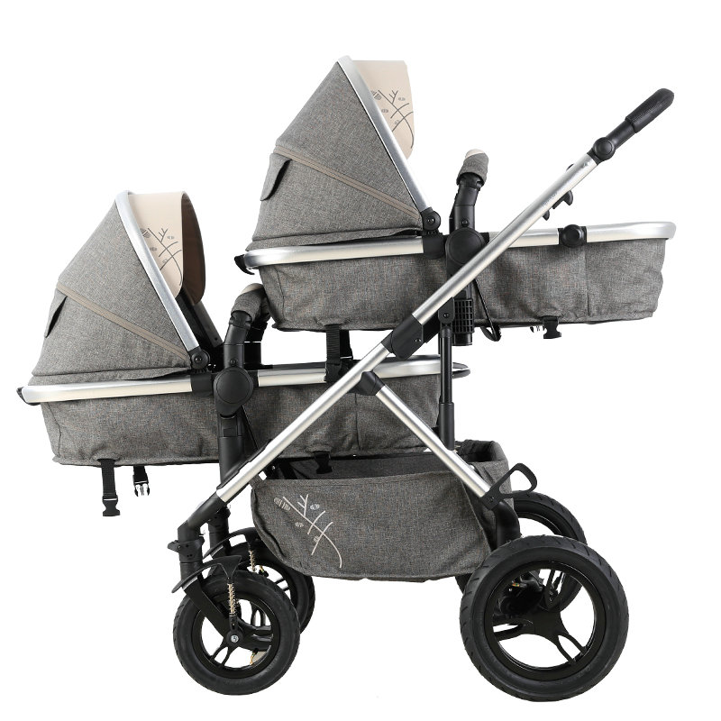Twins Baby Stroller Double Front and Rear Baby Carriage For Newborns Twins Prams Twin Lightweight Double Strollers bello outdoor double twins stroller foldable light baby carriage prams buggy with rain cover
