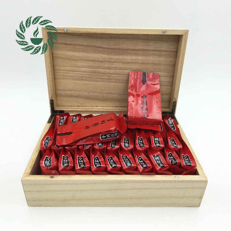 Chinese Black tea 30 bags smokhouse red natural organic Green food Diuretic China oolong wood box Hot products - Oldest Tea Store store