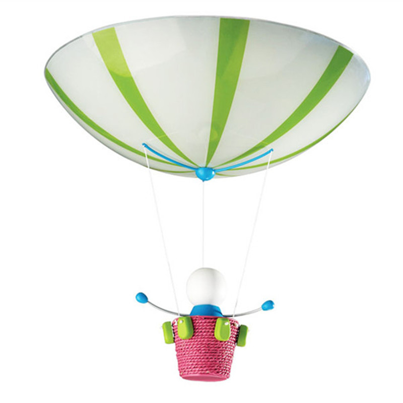 Kidsplace Flushmount Doll Air Balloon Colorful Ceiling Lamp For Kid Children Bedroom Suspension Lighting Fixtures CL105 In Lights From