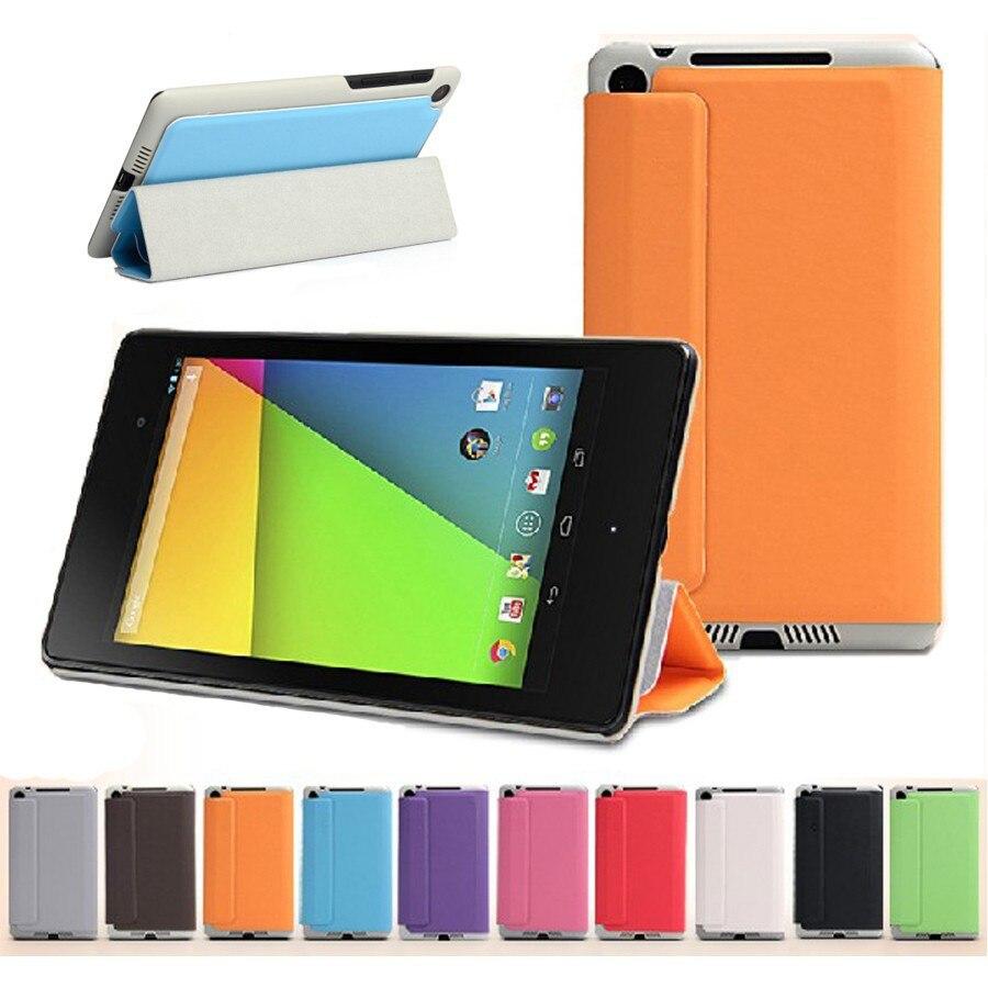 Magnétique Mince PU Étui En Cuir Smart Cover Pour 2013 ASUS Nouveau Nexus 7 2nd Stand En Cuir de Couverture de Cas, cadeau écran Protecteurs