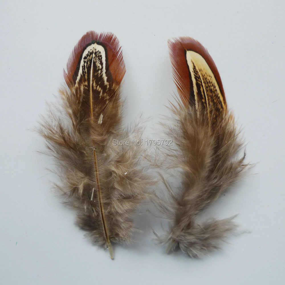 20/50/100 pièces 4-9cm Coloré Faisan plumes de poulet pour l'artisanat Vêtements bijoux Chapeaux Dreamcatcher Décorations panaches