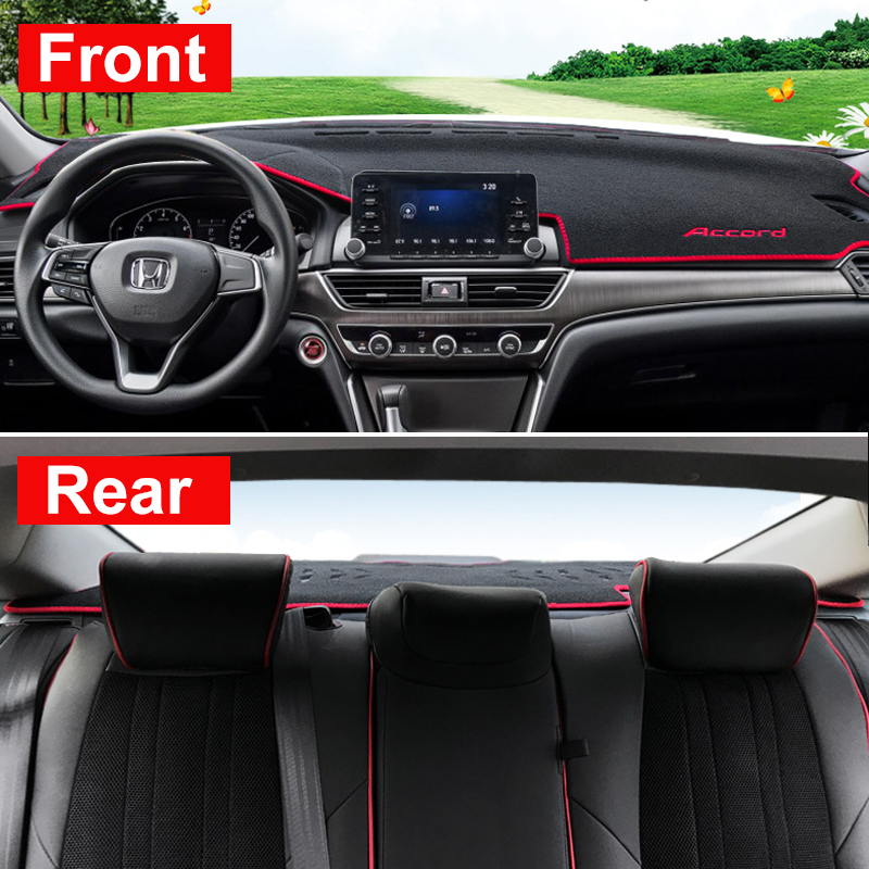 Image 4 - Car dashboard Avoid light pad Instrument platform desk cover Mats Carpet Anti UV LHD For Honda Accord 10th 2018 2019 Accessories-in Interior Mouldings from Automobiles & Motorcycles