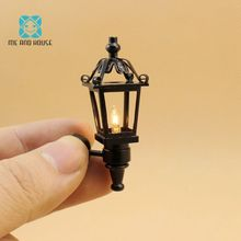 Me and House1 12 Doll House Miniatures black coach lamp 12 volt