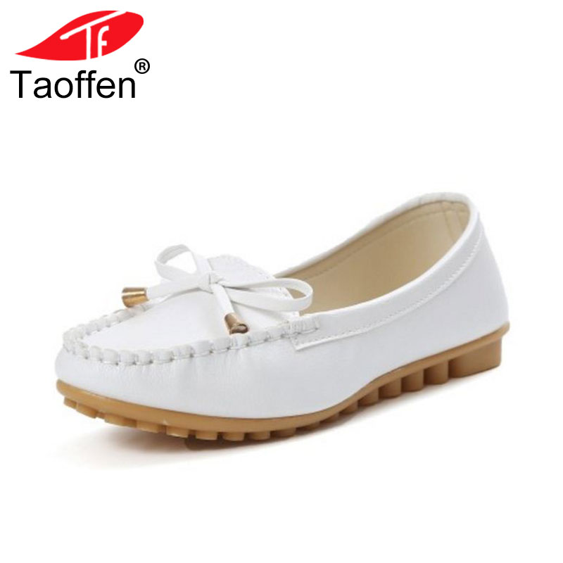 TAOFFEN Flat Shoes Women Autumn Slip On Shoes For Women Loafers Moccasin Women's Zapatos Mujer Ballet Flats Shoes Woman Size top quality women flats 100% cowhide leather bullock vintage slip on flat tassel oxford shoes for women loafers zapatos mujer