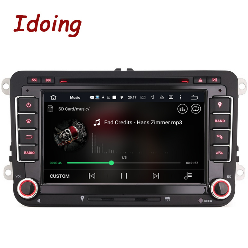 Idoing 2Din Android7 1For Volkswagen Touran Passat B6 Steering Wheel Car DVD Multimedia Video Player Quad