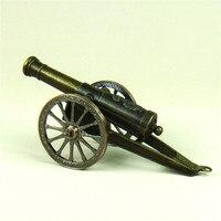 Ancient Iron Art Cannon Replica Model Handmade Metal Artillery Miniature Warfare Decor Souvenir Gift Craft Adornment Accessories