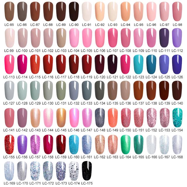 LILYCUTE 175 Colors Nail Polish UV Gel