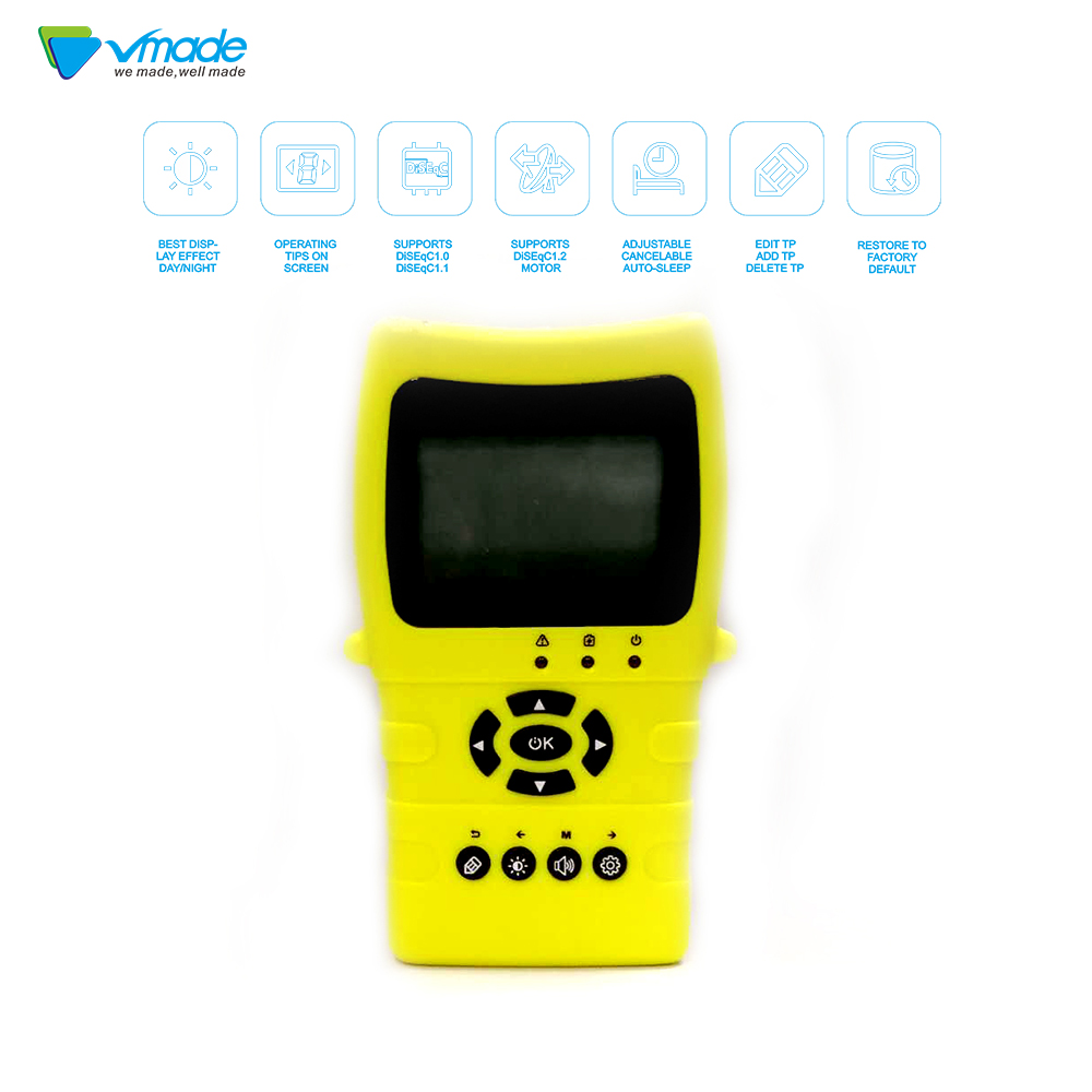 Vmade Satlink TM8511 Fast charging Li ion battery Digital MPEG 4 DVB S2 Satellite Meter Sat finder 1080P Satellite Signal Finder-in Satellite TV Receiver from Consumer Electronics