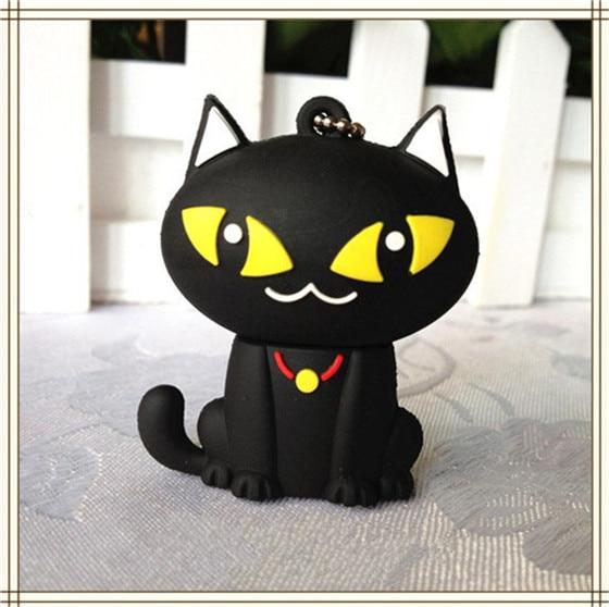 animal cartoon black cat USB Flash Drive 4GB 8GB Memory Card Stick 16GB 32GB Thumb/Car k ...