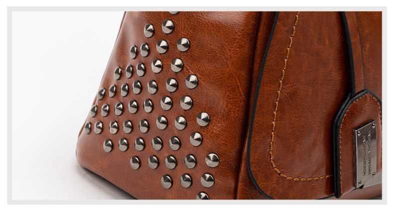 Bolso de cuero bolsos de marcas famosas mujeres hombro grande tronco Tote Vintage señoras bandolera Bolsa femenina bolso 2019 C1038
