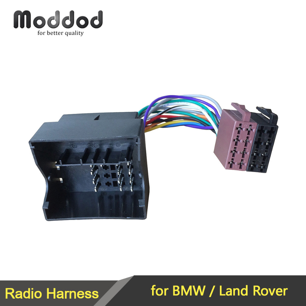 hight resolution of iso wiring harness radio cable adaptor for bmw land rover connector cable plug free shipping 1set