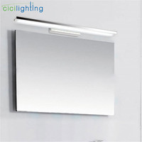 L40/60/80/100cm Modern Acrylic LED front mirror light 8/12/16/24W LED bathroom shower vanity wall lamp arc or right angle sconce