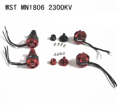 New arrival 4pcs WST 1806 2300KV CW CCW Brushless Motor for RC FPV  Multicopter 250mm Quadcopter QAV250 lhi fpv 4x mt2206 2300kv cw ccw fpv brushless motor 2 4s 4 pcs racerstar rs20a lite 20a blheli s bb1 2 4s brushless esc