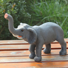 Handmade Decoration Items artificial wool animal promotional toy furry grey miniature garden decoration elephant