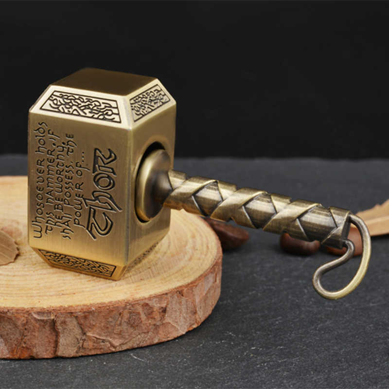 1 шт. Wiitin Thors Battle Hammer Fidget Hand Spinner Сделано из металла, могучий Mjolnir брелок игрушка-античная латунь