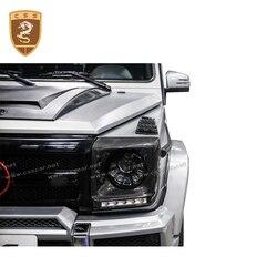 Dla klasy G W463 G500 G55 G63 G65 osłona reflektora głównego z włókna węglowego