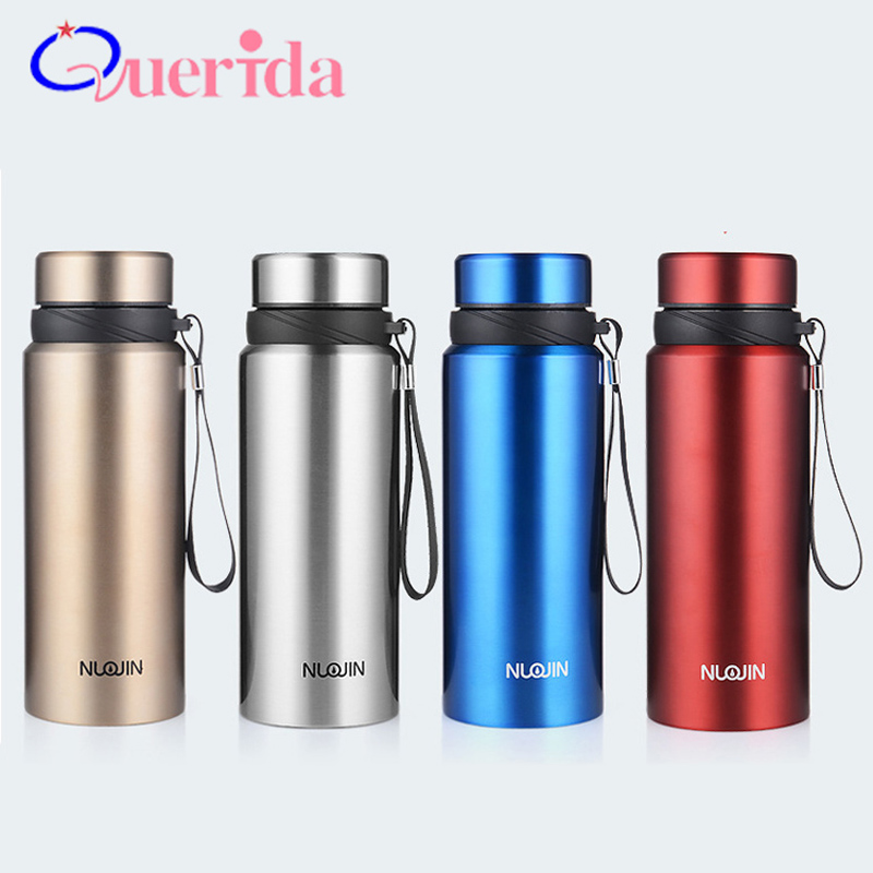 Upscale 750ml Stainless Steel Vacuum Thermal Mug Coffee Thermos Outdoor Sports Travel Mug With Rope Gift Cup Water Bottle